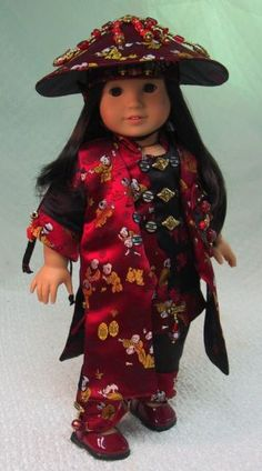 MHD Designs - Petite Chinoise - Fashion Pattern for 18 Inch American Girl Dolls