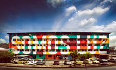 "somos luz - ciudad de panama peru. I liked this a lot more when I realized it said ""we are light"""