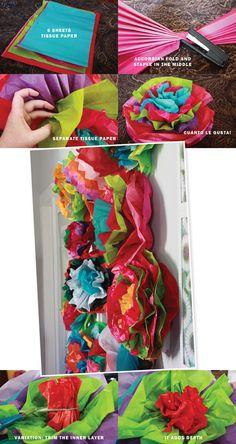Flores gigantes para una fiesta o para decorar un dormitorio de niña... preciosas!! Aunt Peaches: Friday Flowers: Fiesta Flowers