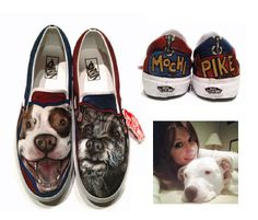 Sink or Swim Custom Sneakers | The Bark - Get your doggies  painted on your shoes!  So cool!