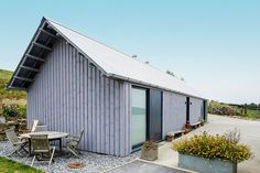 contemporary barn style self build timber cladding