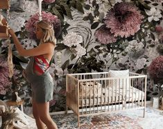 floral wallpaper vintage abstract rose flower wallpaper bedroom wall mural removable wall decal wall poster Peel and Stick wall decor Large Floral Wallpaper, Vintage Floral Wallpapers, Rose Flower Wallpaper, Plant Wallpaper, Wallpaper Size, Kids Wallpaper, Fabric Wallpaper, Flower Branch, Balloon Wall