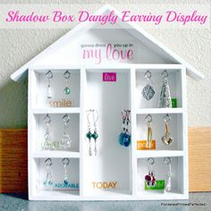 Pondered Primed Perfected: Dangly Earring Storage & Display DIY
