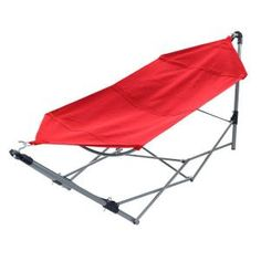 portable hammock with 9 ft  frame stand and carrying bag in red coleman gray cold springs four person dome tent   zulily  cold      rh   pinterest