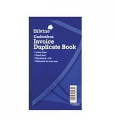 "Buy the new ""Silvine Duplicate Book Invoice 8.25x5 Carbonless "" online today. Now in stock."