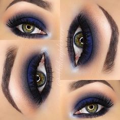Navy smokey eye                                                                                                                                                      More