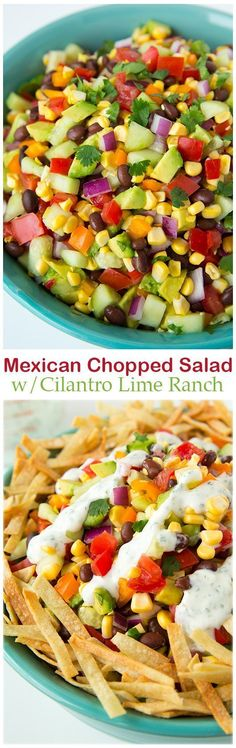 Mexican Chopped Salad with Greek Yogurt