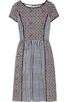 Oscar de la Renta Printed stretch-cotton dress | NET-A-PORTER