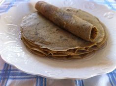Pumpkin Ployes pancake crepes recipe on Brunch Menu, Brunch Recipes, Vegan Recipes, Ployes Recipe, Elimination Diet Recipes, Savory Pumpkin Recipes, Griddle Cakes, Crepe Recipes, Pancakes And Waffles