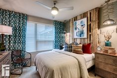 Designed by Faulkner Design Group #bedroom #luxury #modelunit #faulknerdesigngroup #interiordesign #multifamily #apartmentdesign #apartmentinspiration #apartment