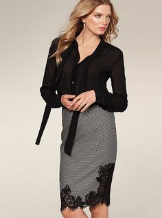 Checked Pencil Skirt - Victoria's Secret