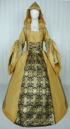 MEDIEVAL RENAISSANCE TUDOR WEDDING HANDFASTING LARP GOWN DRESS COSTUME (28F) 4a090fe681b1