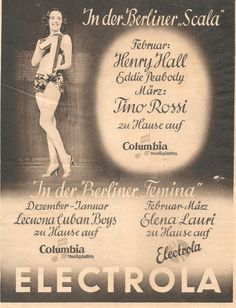 Werbeanzeige der Electrola aus dem Maerz 1939