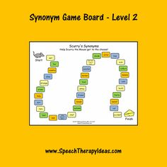 Print-and-play game boards make therapy fun for your students and quick and easy for you! This game board takes your students on a winding path as Scurry the Speech Therapy Games, Speech Language Pathology, Therapy Activities, Therapy Ideas, Speech And Language, Picture Cards, Word Work, Vocabulary, Board Games