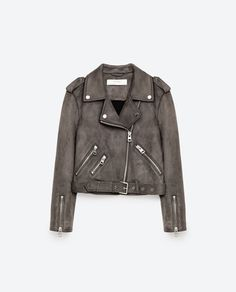 Image 8 of SUEDE EFFECT JACKET from Zara