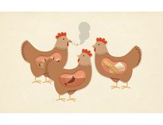 three french hens :) (jessica hische)