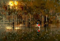 ⌨RAINY MARCH by Pascal Campion⌨ #pascalcampion #paintings #artwork