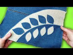 Una bolsa de jeans viejos con sus propias manos. Impresionante idea con apliques - YouTube Bag Jeans, Artisanats Denim, Denim Ideas, Denim Crafts, Sewing Lessons, Diy Purse, Easy Sewing Patterns, Tote Pattern, Crochet Clutch