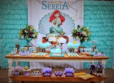 Encontrando Ideias: Festa Pequena Sereia!!!