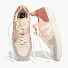 Madewell Womens Veja V-10 Sneakers In Colorblock
