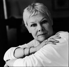 Dame Judy Dench..... Lovely lady.... great british actress.... I would love to be as graceful as her.... can I grow up to be Dame Judy Dench?? please <3