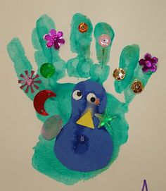 Handprint peacock (I can't get enough of these!)