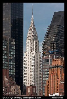 Chrysler Building from Roosevelt Island. NYC, New York, USA