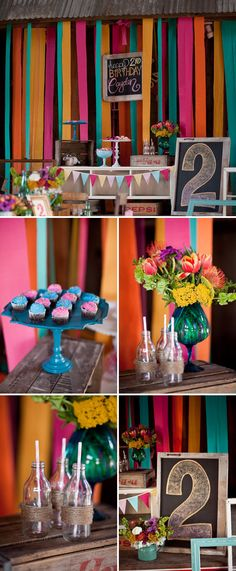 Colorful and eclectic birthday party