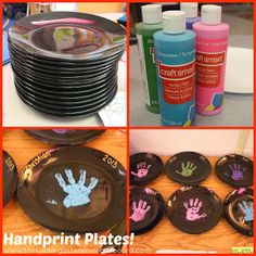 Handprint plate for parent gifts.
