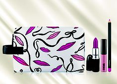 M·A·C 'Illustrated' Lip Bag (Pink) (Nordstrom Exclusive) available at Anniversary Sale Heaven Rosy Lips, Pink Lips, Mac Lip Kit, Mac Lips, Makeup Store, Nordstrom Anniversary Sale, Makeup Essentials, Lip Pencil, My Beauty