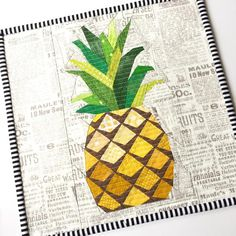 Pineapple Paper Pieced ~ intermediate sewing pattern for quilt block / pillow, $9 digital download | by Jitka Design via Craftsy
