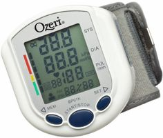 Ozeri BP01K CardioTech Pro Series Digital Blood Pressure Monitor with Heart Health and Hypertension Indicator - CardioTech products offer clinically proven technology and are used by physicians and hospitals around the world. Unlike traditional blood pressure monitors that inflate to 170 mmHg or higher by default, the Ozeri CardioTech Blood Pressure Monitor is an advanced wrist cuff monitor with MWI (Measu...