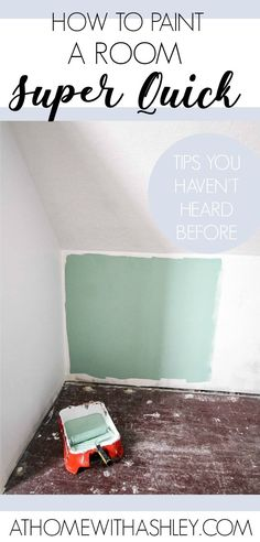 how to paint a room super quick Painting How to Paint a Room Fast Awesome tips from a pro painter Painting with a roller a DIY video tutorial with tips on how to paint a wall white without streaks Plus, how to cut in without tape - diy-home-decor Painting Walls Tips, Diy Painting, House Painting, Budget Home Decorating, Diy Home Decor, Decor Room, Decorating Tips, Home Renovation, Diy Home Repair