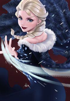 Artgerm's Elsa colored by Garnetflame by Garnet777flame