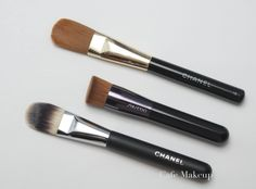 Chanel Foundation Brush #6, Shiseido's Perfect Foundation Brush, (Discontinued) Chanel #16 Brush