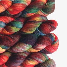 Hand Dyed Sock Yarn, hand painted, fingering weight, 4ply superwash merino, 3.5 oz, Berlin, color Coral Reef