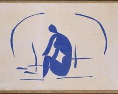 Bather in the Reeds,1952, Matisse.