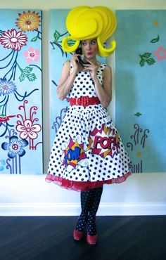 Cassie Stephens: DIY: A Lichtenstein Dress That'll Knock You Out
