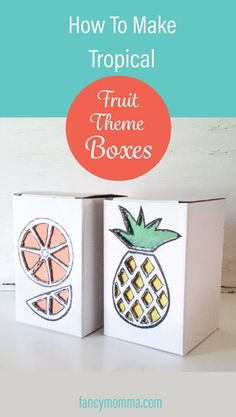 Learn how to make these adorable fruit theme boxes to make as a gift box or just for storing and organizing stuff.