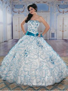 Quince Decorations Blue | Blue Quinceanera Dresses, Blue Quinceanera Gowns - Mis Quince Mag