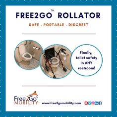 Yes, it's that simple! Free2Go Rollator simply rolls over any height toilet to provide the safety you need. Safe . Portable . Discreet. Free2Go Rollator restores dignity and independence.