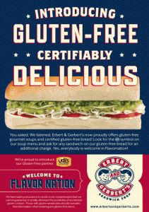 photograph about Erberts and Gerberts Printable Menu known as Gluten Free of charge Immediate Foods