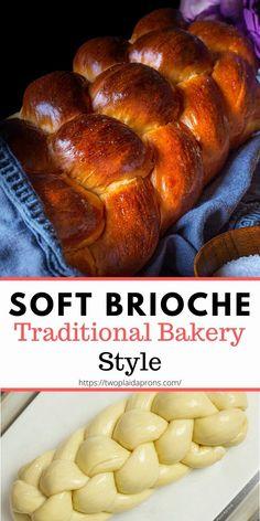 Brioche Loaf, Brioche Recipe, What Is Brioche Bread, Bread Machine Recipes, Easy Bread Recipes, Challah Bread Recipes, French Brioche, French Loaf, Bakery Recipes