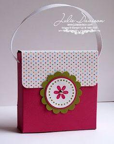 3x3 cards in mini purse. SO cute
