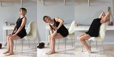 Unwind at Your Desk With These 8 Seated Yoga Poses Yoga at your desk? How to do 8 poses—including the _ here—that will un-kink computer crouc Fitness Del Yoga, Fitness Tips, Health Fitness, Elle Fitness, Seated Yoga Poses, Strength Workout, Yoga For Beginners, Easy Workouts, Yoga Meditation