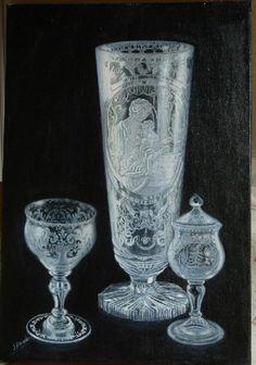 objetos de cristal de bohemia