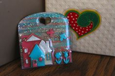 Vintage+Glitter+Lucinda+House+Pin+by+ODOarts+on+Etsy