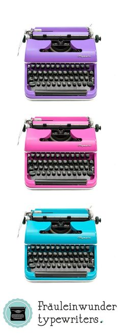 Restored vintage typewriters by Olympia. Working Typewriter For Sale, Olympia, Hermes, Day List, 1950s Decor, Shops, Vintage Typewriters, Retro, Writing A Book