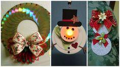 11 adornos navideños reciclando discos de cds que no sirven