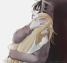 Por qué más personas más buenas son las que más sufren? Satsuriku no Tenshi Rachel and Isaac Little Gods . Couple Manga, Anime Love Couple, Angel Of Death, Otaku Anime, Manga Anime, Ken Kaneki Tokyo Ghoul, Animé Fan Art, Anime Group, Satsuriku No Tenshi